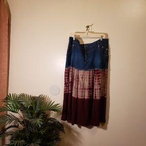 Dresses & Skirts - Plus size denim skirt